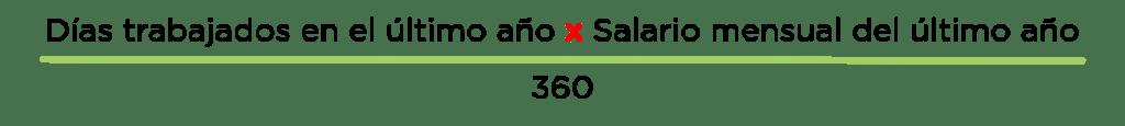 Fórmula de cálculo de Cesantías Salario Fijo